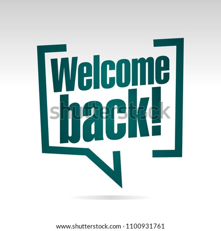Welcome back to school in brackets isolated icon