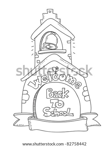 Welcome back to school vector coloring illustration