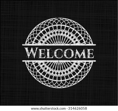 Welcome chalk emblem