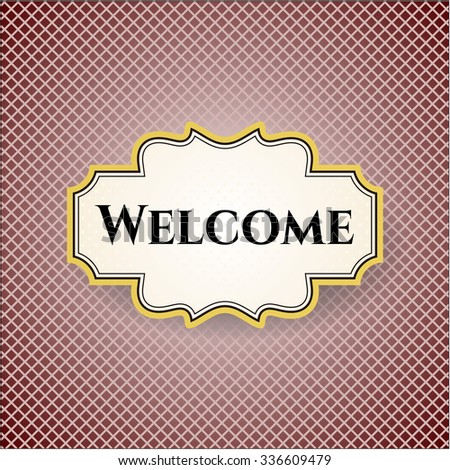 Welcome colorful poster