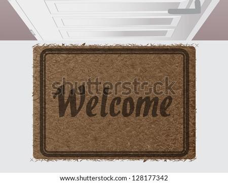 Welcome door mat eps10