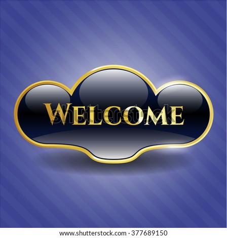Welcome golden badge