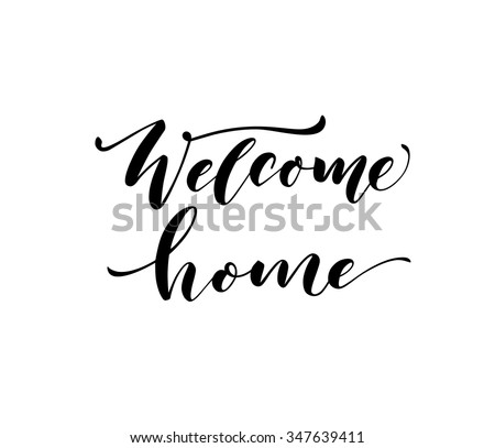 welcome home card or poster