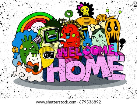 welcome home  hipster hand
