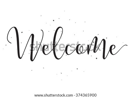 welcome inscription greeting