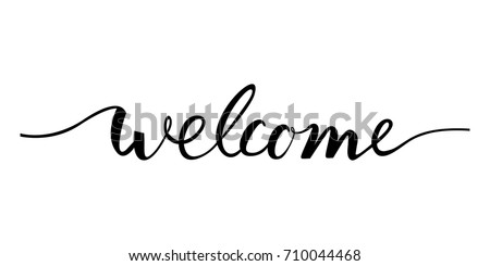 welcome lettering text modern