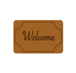Welcome rug, great design for any purposes. Cartoon icon. Vector, isolated. Vector sign. Welcome home.