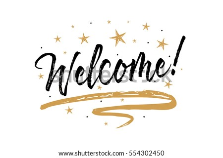 welcome signbeautiful greeting