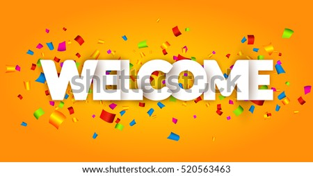 welcome sign letters with