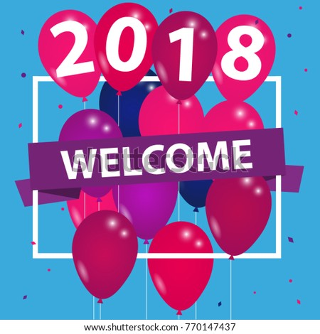 Welcome 2018 - Silvester Background Banner