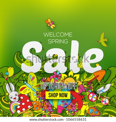 welcome spring sale banner