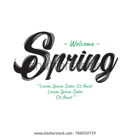 welcome spring text