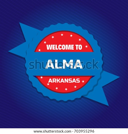 welcome to alma badge