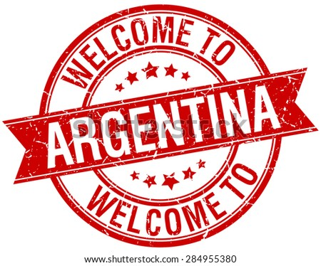 welcome to argentina red round