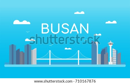 welcome to busan banner vector