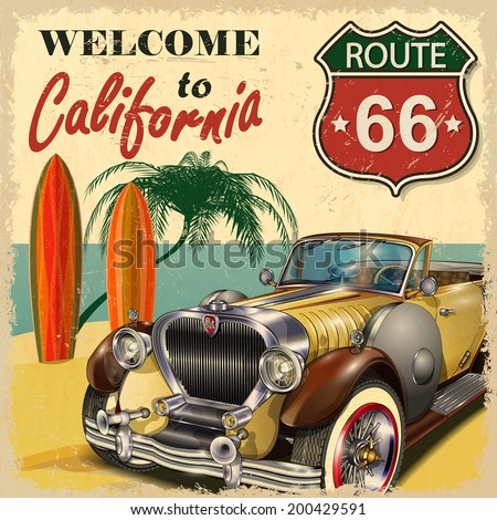 welcome to california retro...