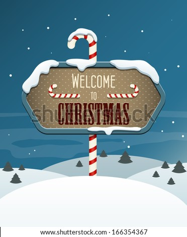 welcome to christmas sign in