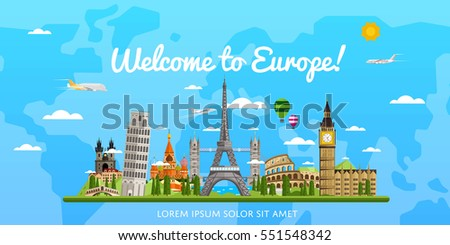 welcome to europe poster with