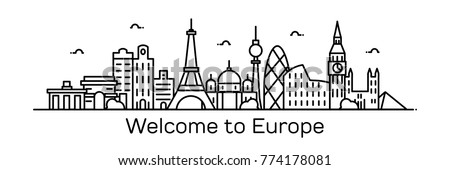 welcome to europe vector