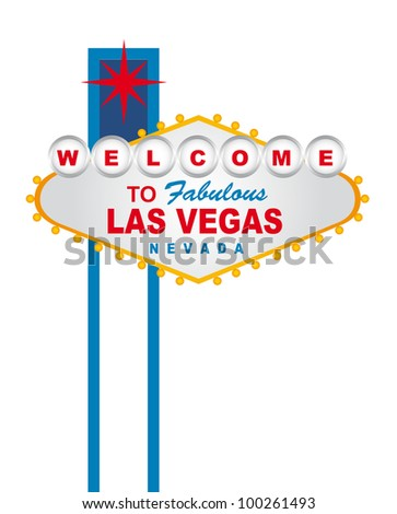 welcome to fabulous las vegas nevada sign over white background. vector