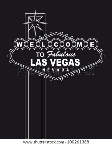 welcome  to fabulous las vegas nevada sign. vector illustration