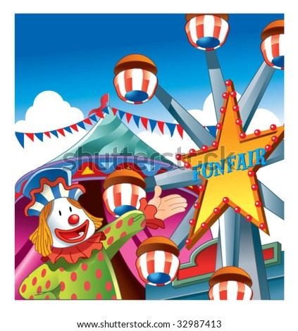 Welcome To Funfair Stock Vector Illustration 32987413 : Shutterstock