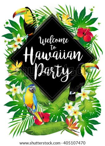 welcome to hawaiian party