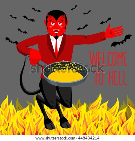 welcome to hell devil holding