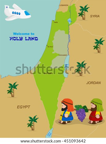 welcome to holy land  map of
