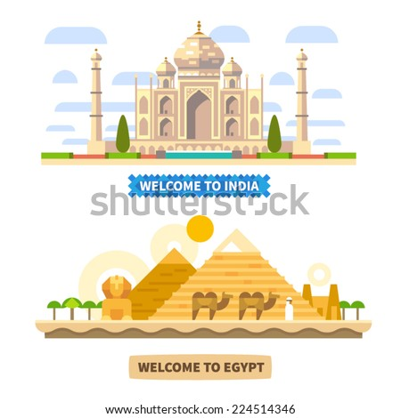 welcome to india and egypt