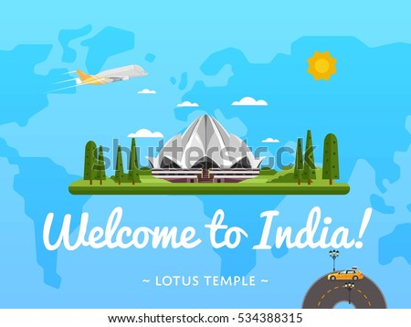 welcome to india poster with