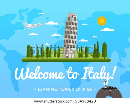 welcome to italy poster with