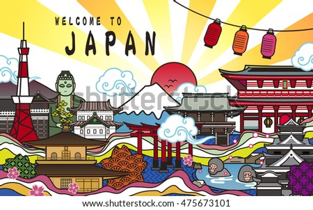 welcome to japan poster design