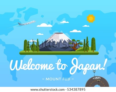 welcome to japan poster with