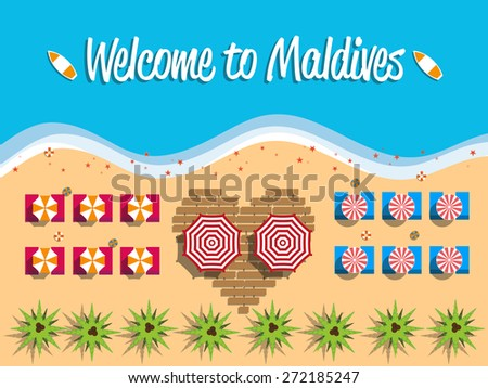 welcome to maldives postcard