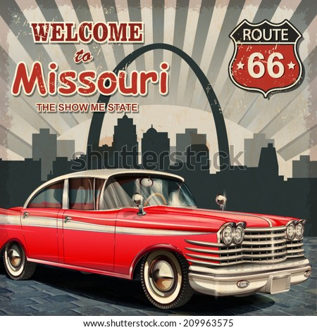 welcome to missouri retro