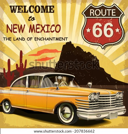 welcome to new mexico retro...