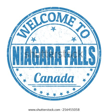 Welcome to Niagara Falls grunge rubber stamp on white background, vector illustration