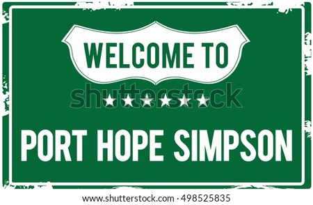 welcome to port hope simpson