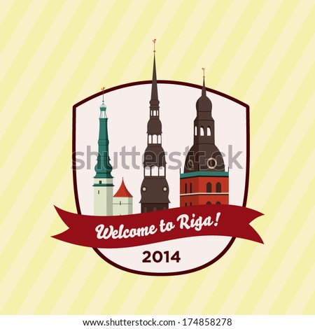 welcome to riga   badge with