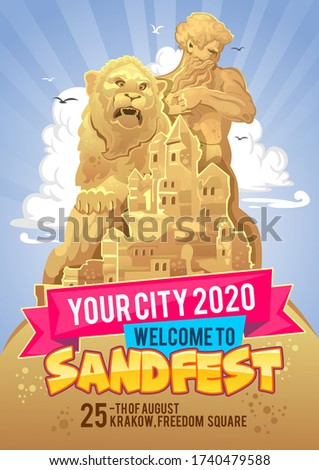 welcome to sand festival banner