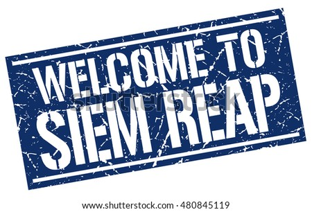 welcome to siem reap stamp