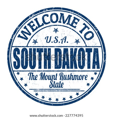 Welcome to South Dakota grunge rubber stamp on white background, vector illustration
