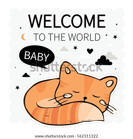 welcome to the world baby cute