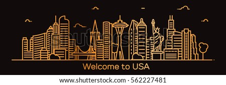 welcome to usa  detailed