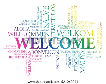 welcome word cloud in different