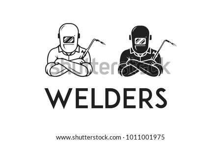 Welders illustration black & white