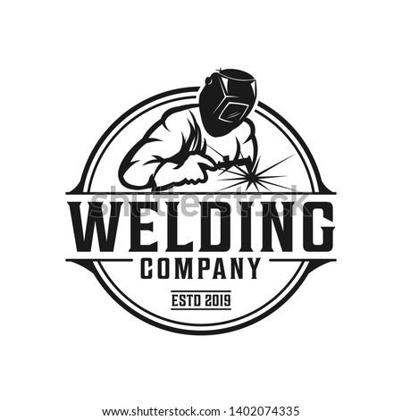 welding company badge logo