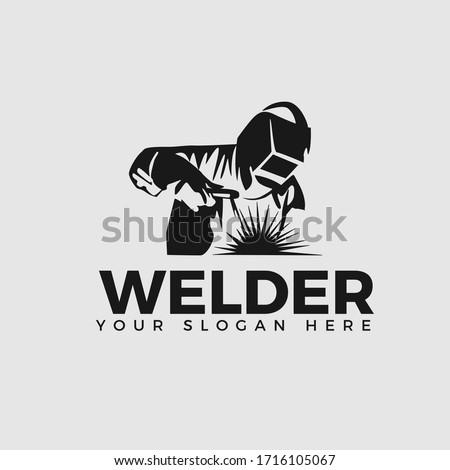 Welding company logo design, WELDER LOGO SIMPLE AND CLEAN LOGO  Stock photo ©