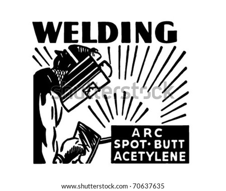 Welding - Retro Ad Art Banner